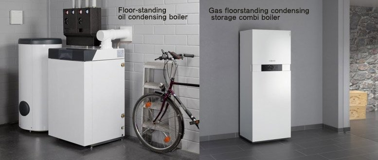 Floor standing boilers gas and oil