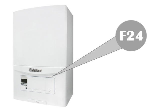 f24 fault on vaillant boiler